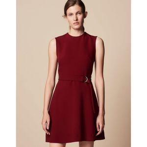 Sandro Honeycomb Fabric Belted Dress XS